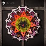 Halloween Widow's Web Luminary Wreath