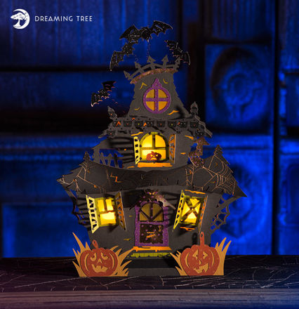 Picture of Tea Light Haunted House SVG