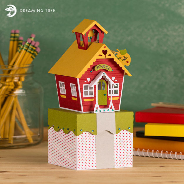 Picture of Schoolhouse Gift Box SVG