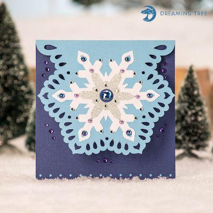 Snowflake Card (Free SVG)
