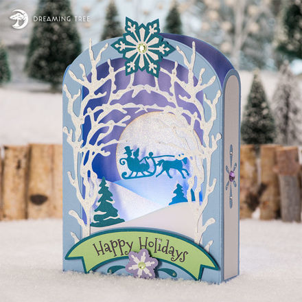 Picture of Winter Wonderland Paperscape Card SVG
