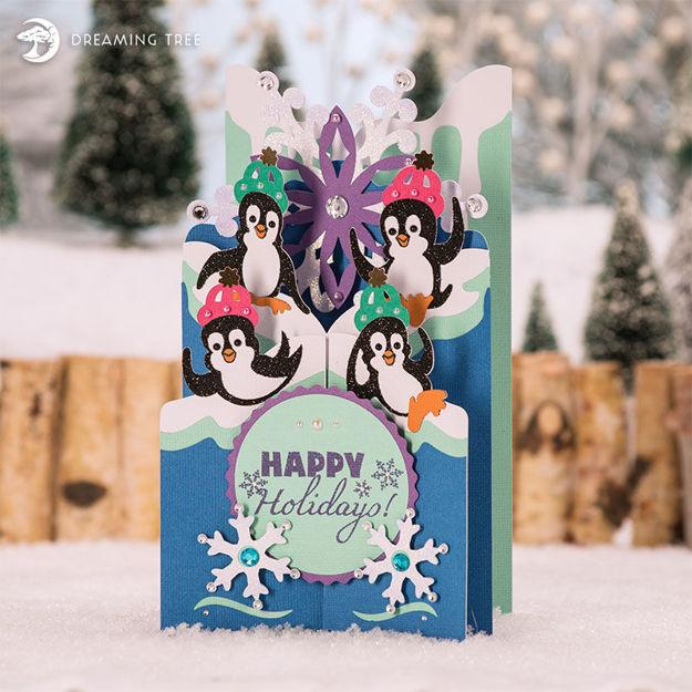 Peppy Penguins Cascade Card SVG