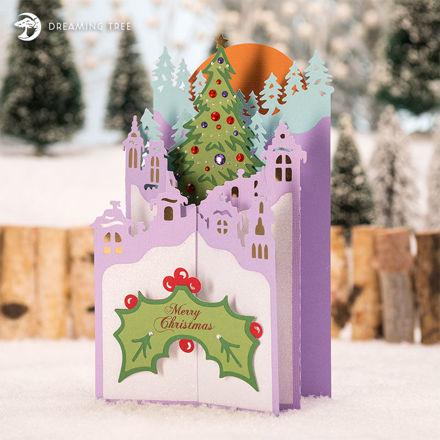 Christmas Village Cascade Card SVG