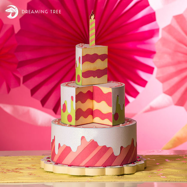 Picture of Birthday Cake Boxes SVG