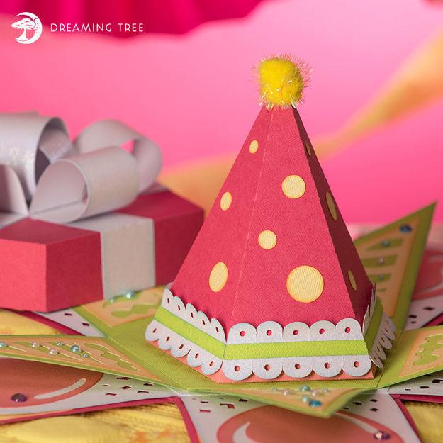 Explosion Birthday Box Party Hat