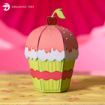 Picture of Cupcake Favor Box SVG