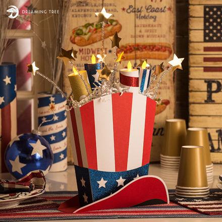 Picture of Firecracker Tea Light Topper SVG
