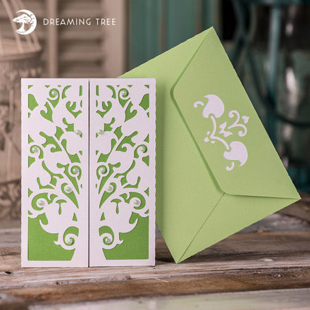Floral Tree Gatefold Card