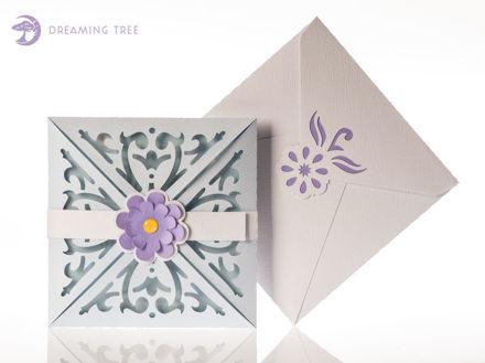 Scroll Greeting Card SVG