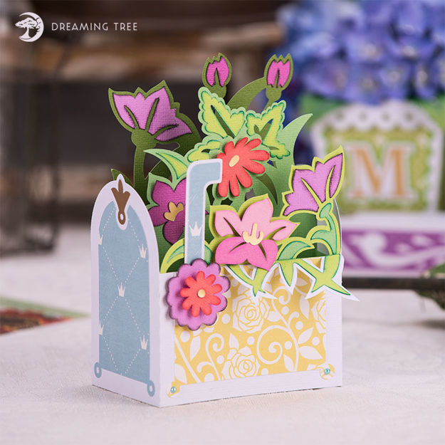 Picture of Mailbox Bouquet Box Card SVG