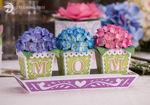 3D Hydrangea Flowers Tray Mom Mum