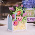 Mailbox 3D Floral Box Card
