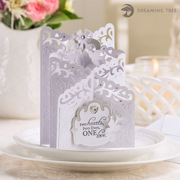 Picture of Doves Cascade Card SVG