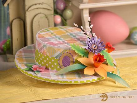 Easter Daffodil Skimmer Hat Box