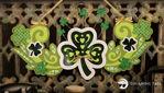 St. Patricks Day 3 Leaf Clover Irish Banner
