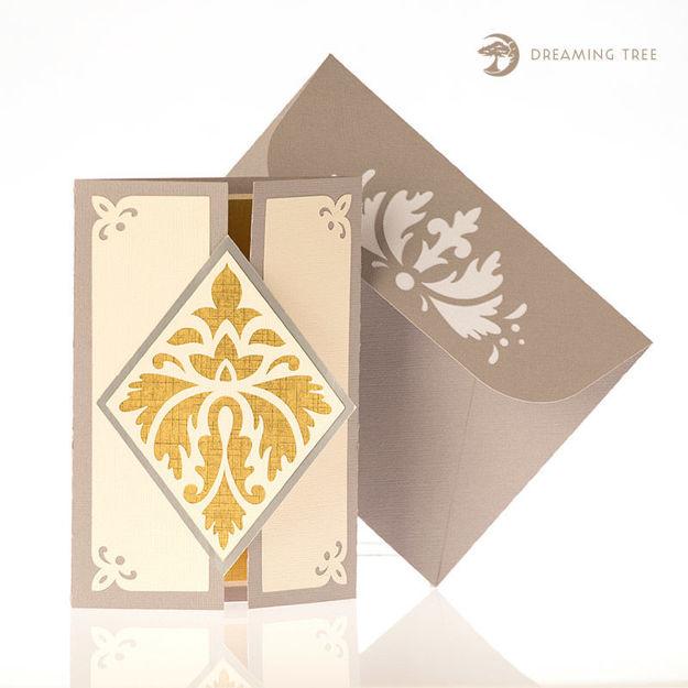 Floral Gatefold Card SVG