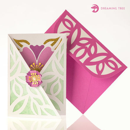 Spring Gatefold Card SVG