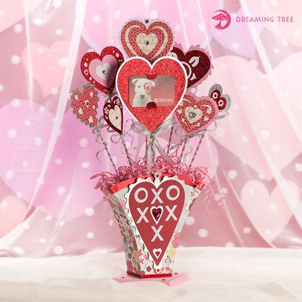 Hearts Bouquet Vase SVG