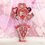 Valentine's Day Vase With Hearts Gift Card Holder