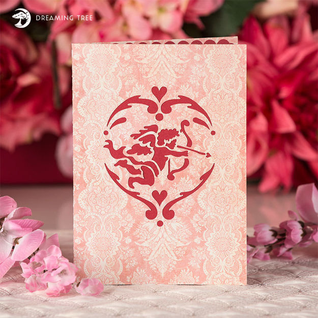 Picture of Cupid Pop Up Card SVG