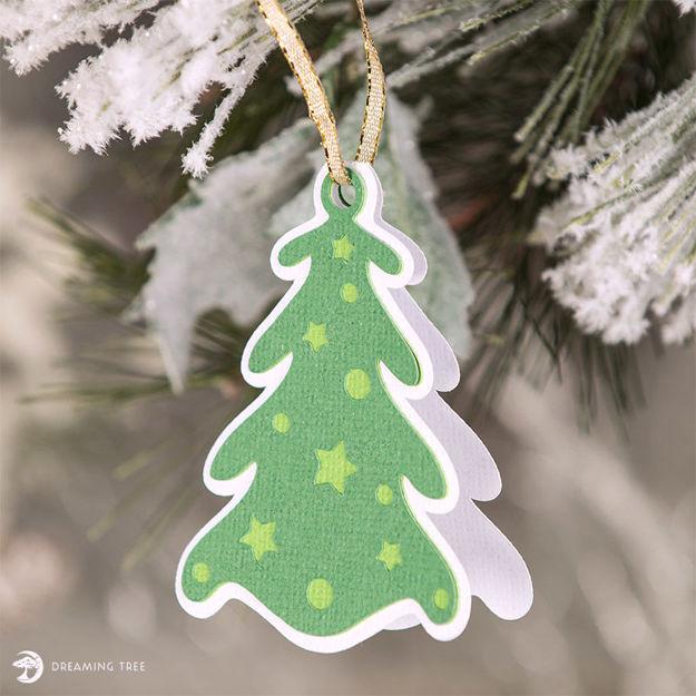 Christmas Tree Gift Tag (Free SVG)