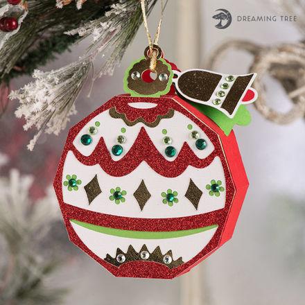 Festive Hinged Gift Box Christmas Ornament