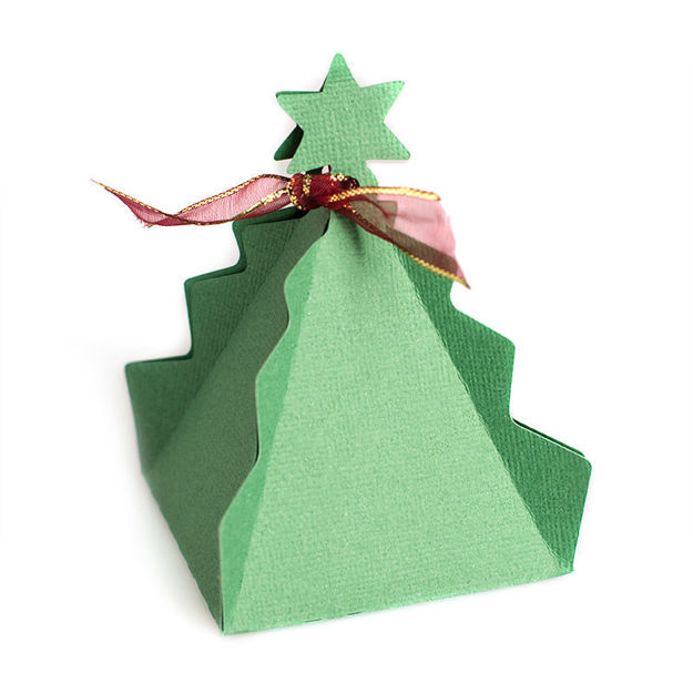 One Piece Christmas Tree Favor Box (Free SVG)