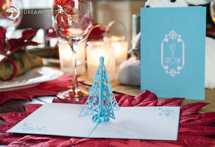 Picture of Let It Snow Pop Up Card SVG