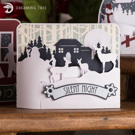Silent Night Christmas Bendi Card