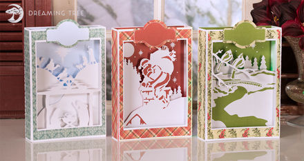 Picture of Christmas Paperscape Box Cards SVG Bundle