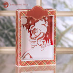 Picture of Santa Paperscape Box Card SVG