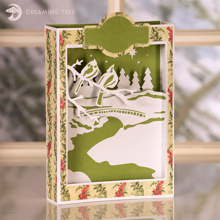 Picture of Cardinals Paperscape Box Card SVG