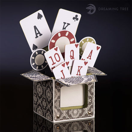 Picture of Poker Box Card SVG