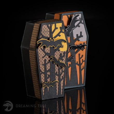 Spooky Coffin Halloween Treat Box