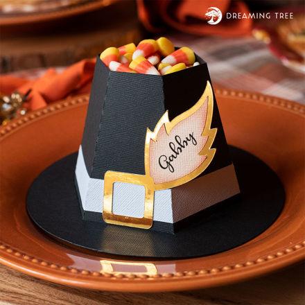 Pilgrim Hat Treat & Place Set (Free SVG)