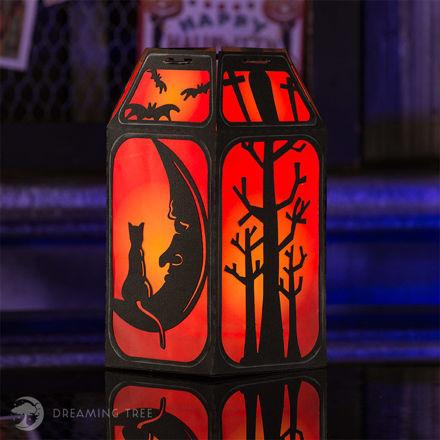 Stingy Jack's Halloween Lantern Cat Moon Haunted House