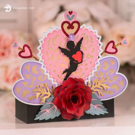 Valentine's Day Cupid Illuminated Mantel