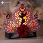 Valentine's Day Cupid Illuminated Mantel SVG