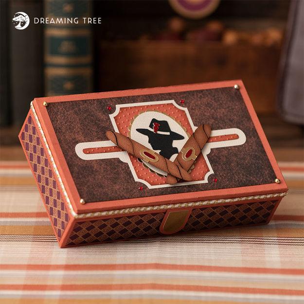 Cigar Gift Jewelry Box SVG