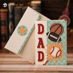 Dad Basketball Football Baseball Card