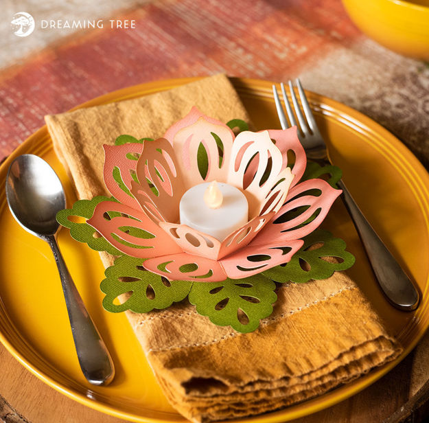 Lotus Tealight (Free SVG)