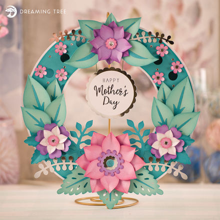 Picture of Mother's Day Wreath SVG