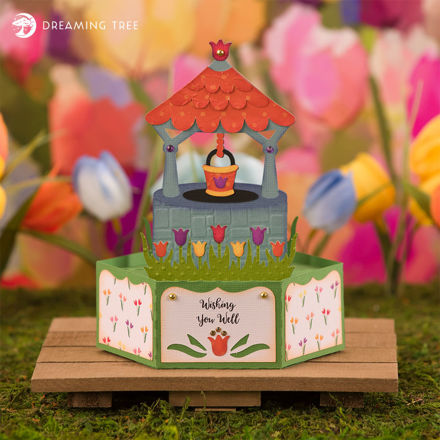 Picture of Wishing Well Pop Up Card SVG