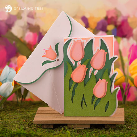 Picture of Tulip Greeting Card SVG