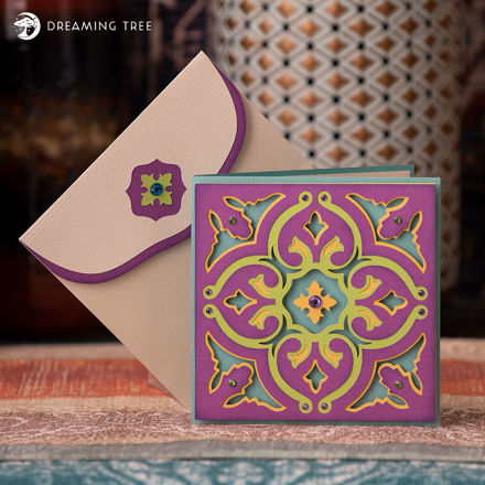 Picture of Moroccan Tile Greeting Card SVG