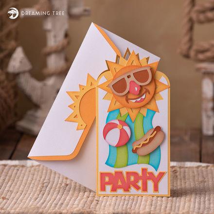 Summer Party Invite SVG