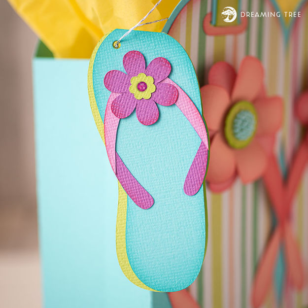 Picture of Flip Flop Hang Tag (Free SVG)