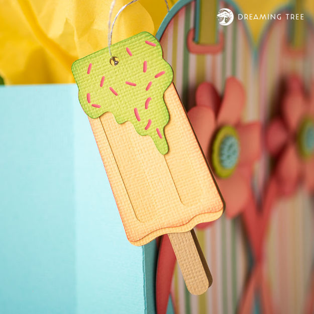 Picture of Lemon Popsicle Hang Tag (Free SVG)