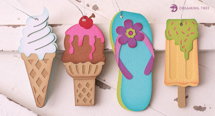 Summer Tags (Free SVG)