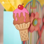 Chocolate Ice Cream Cone Summer Tag